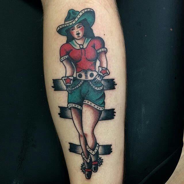 Pin Up Girl Tattoo