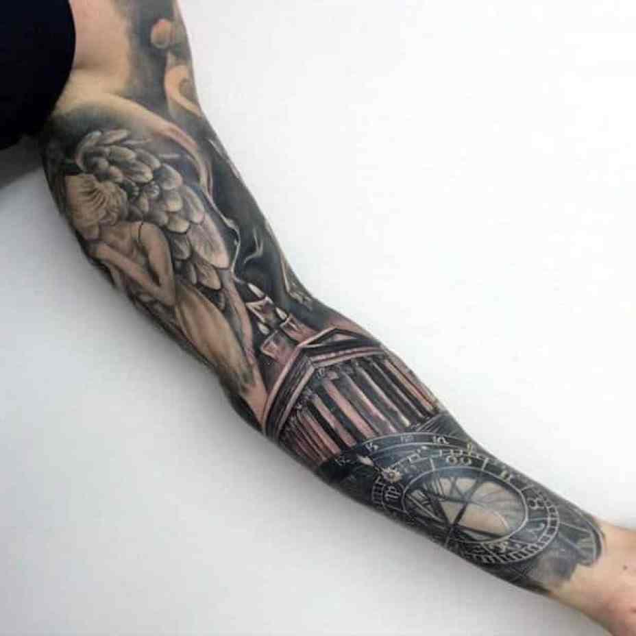 Sun Compass Arm Tattoo