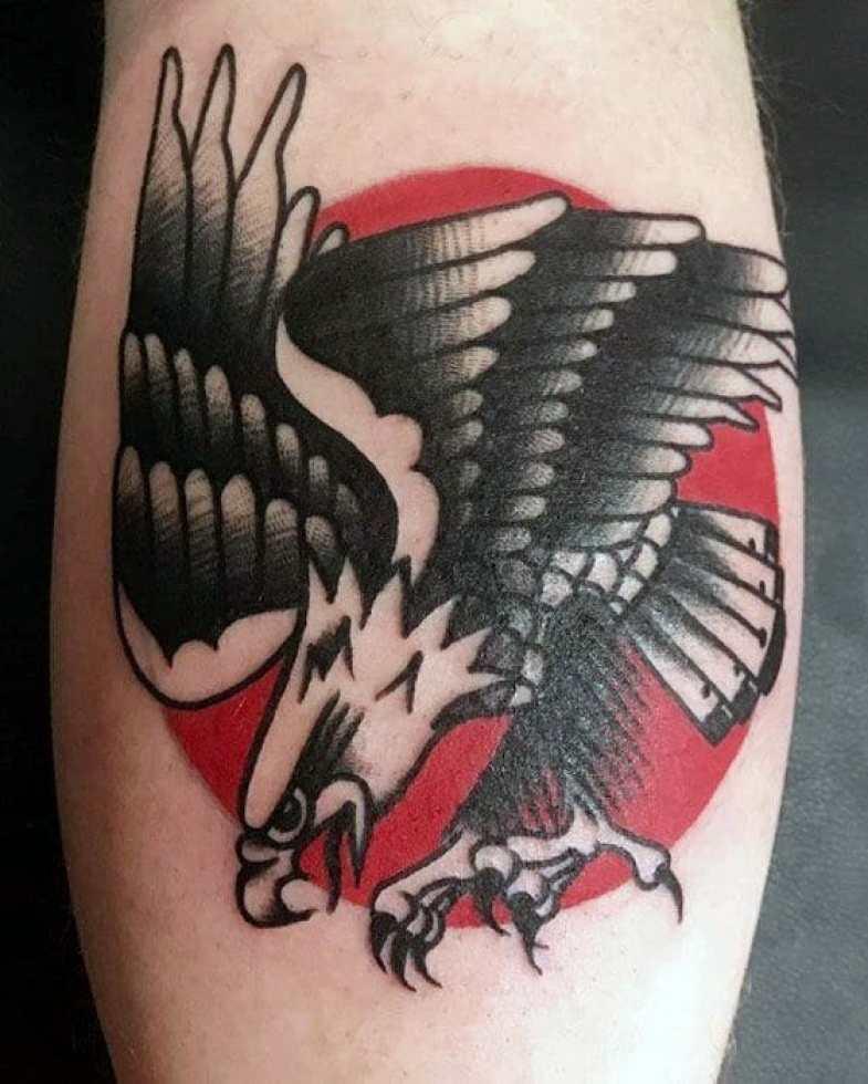 Traditional Eagle Arm Tattoo