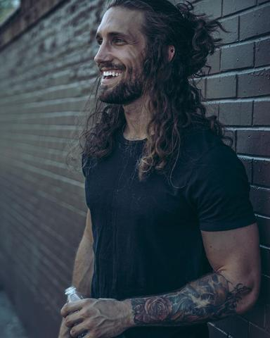 Curly Long Hair & Beard