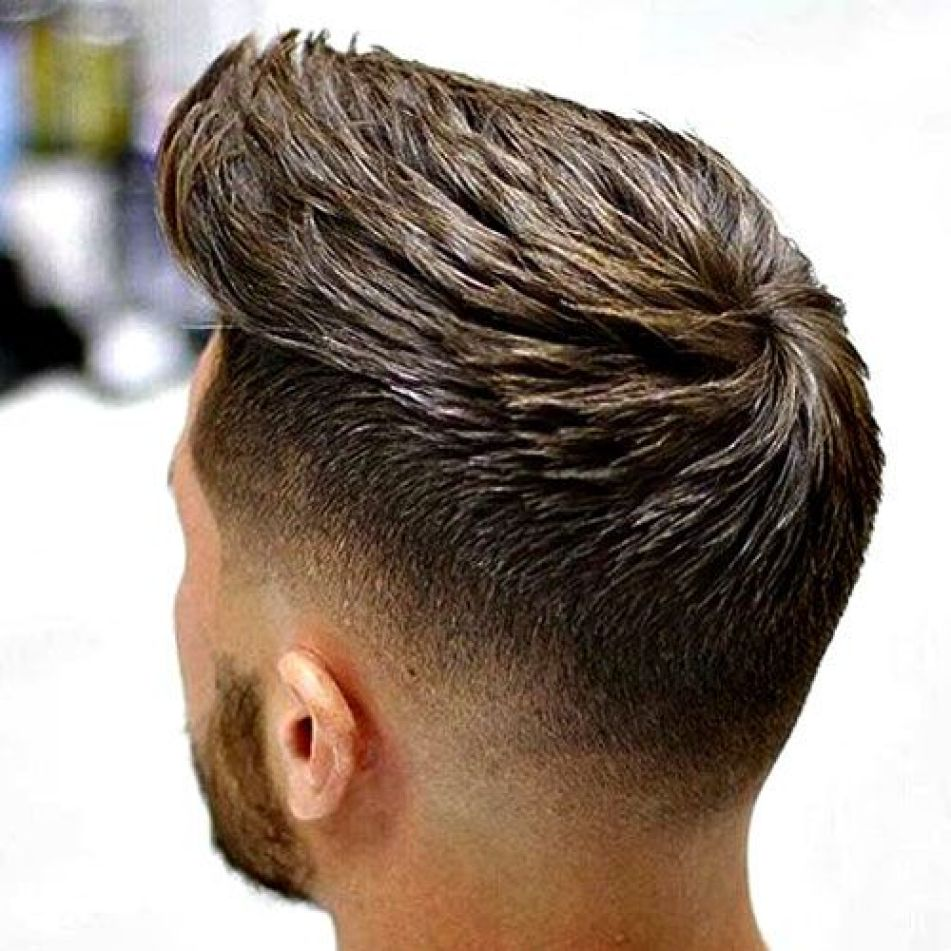 Styled Low Fade Hairstyle