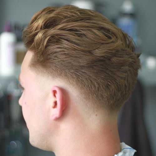 Textured Low Fade Pompadour