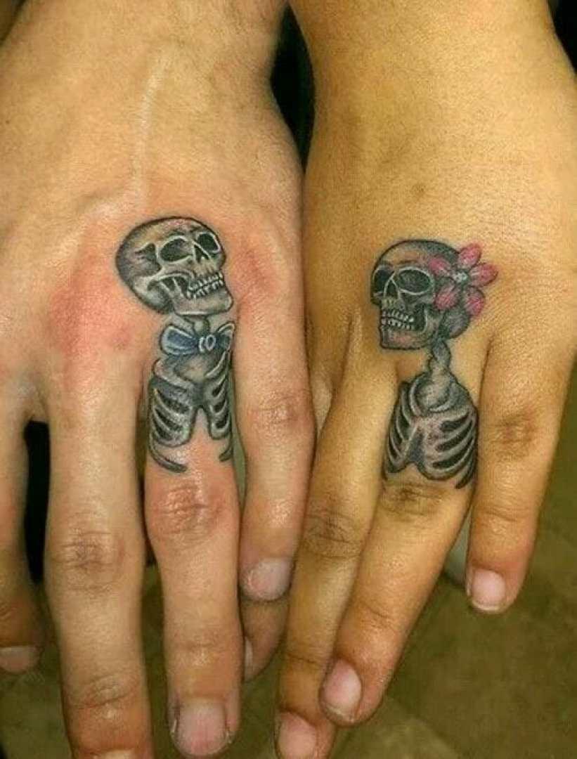 Matching Skeleton Tattoos