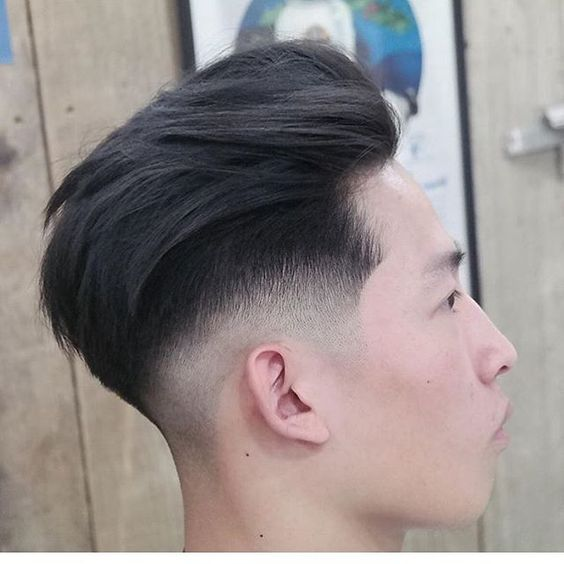 Low Fade Pompadour Hairstyle