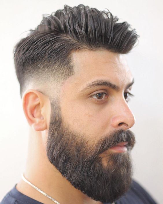 Low Fade with Part & Beard