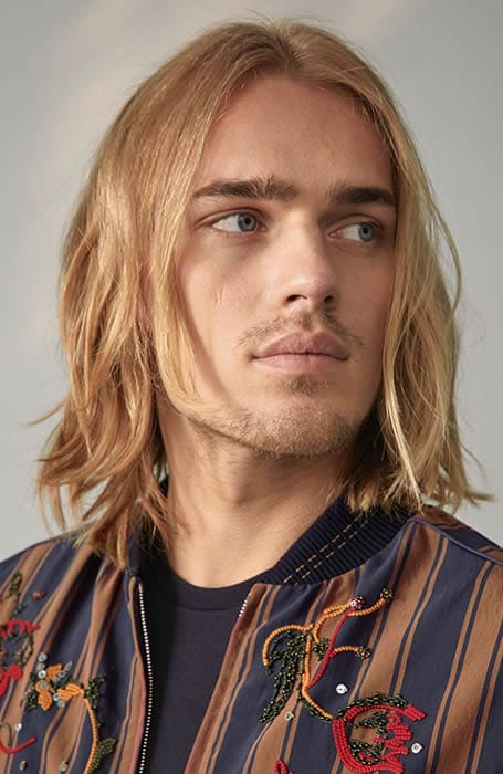 Shoulder Length Blonde Long Hair