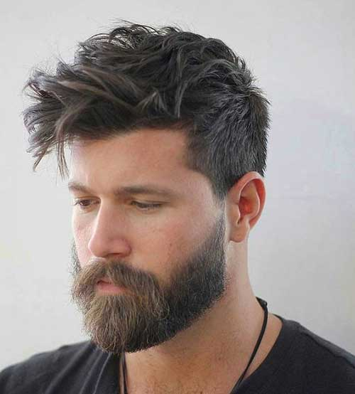 Medium Textured Haircut with Thick Bandholz Beard