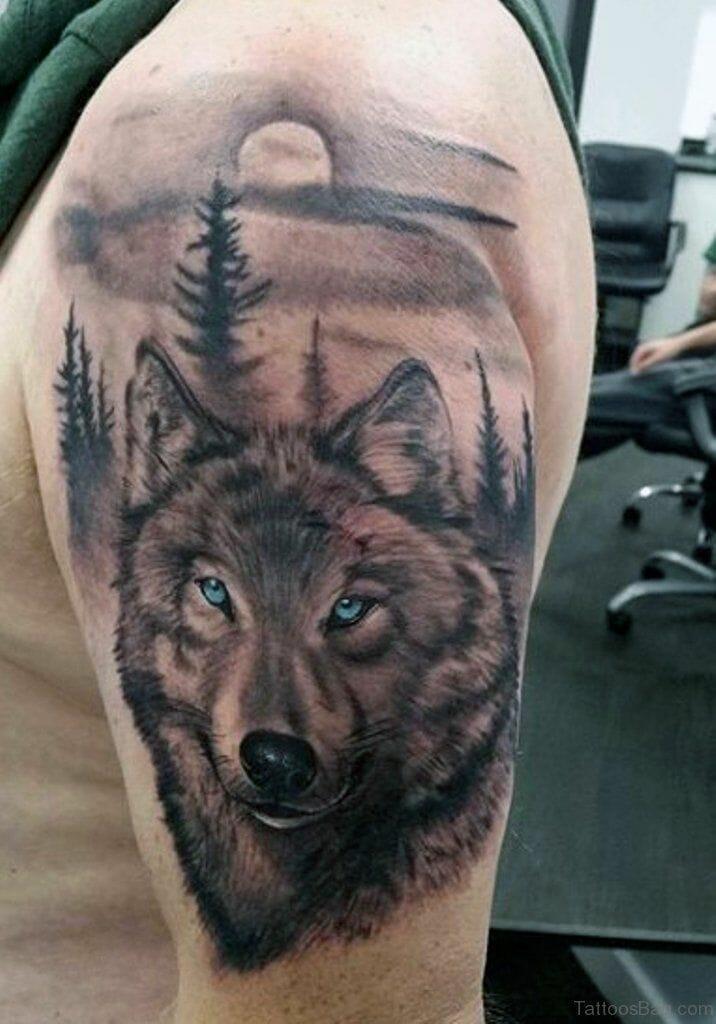 Indian wolf Tattoo