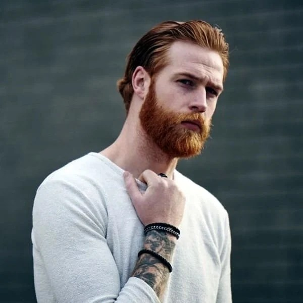 Medium Length Ginger Ponytail with Full Bandholz Beard