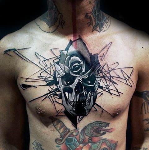 Abstract Skull Tattoo