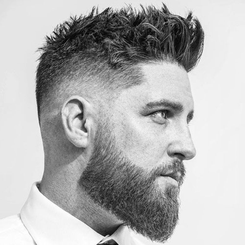 Low Fade with Spiky Textured Hair