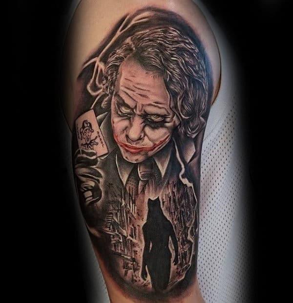 Awesome The Joker Half Sleeve