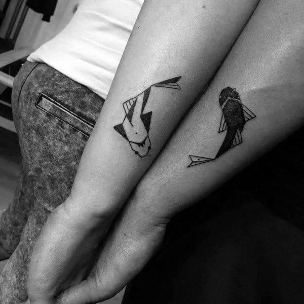 Koi Fish Couples Tattoo
