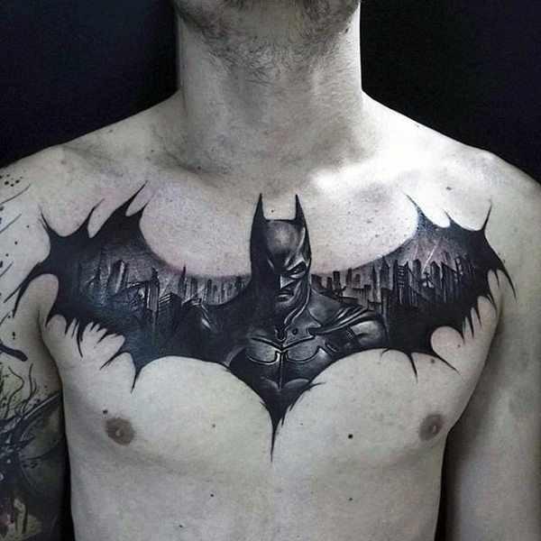 2f1cc04b0 101 Batman & Joker tattoo designs for men - (incl, legs, backs ...