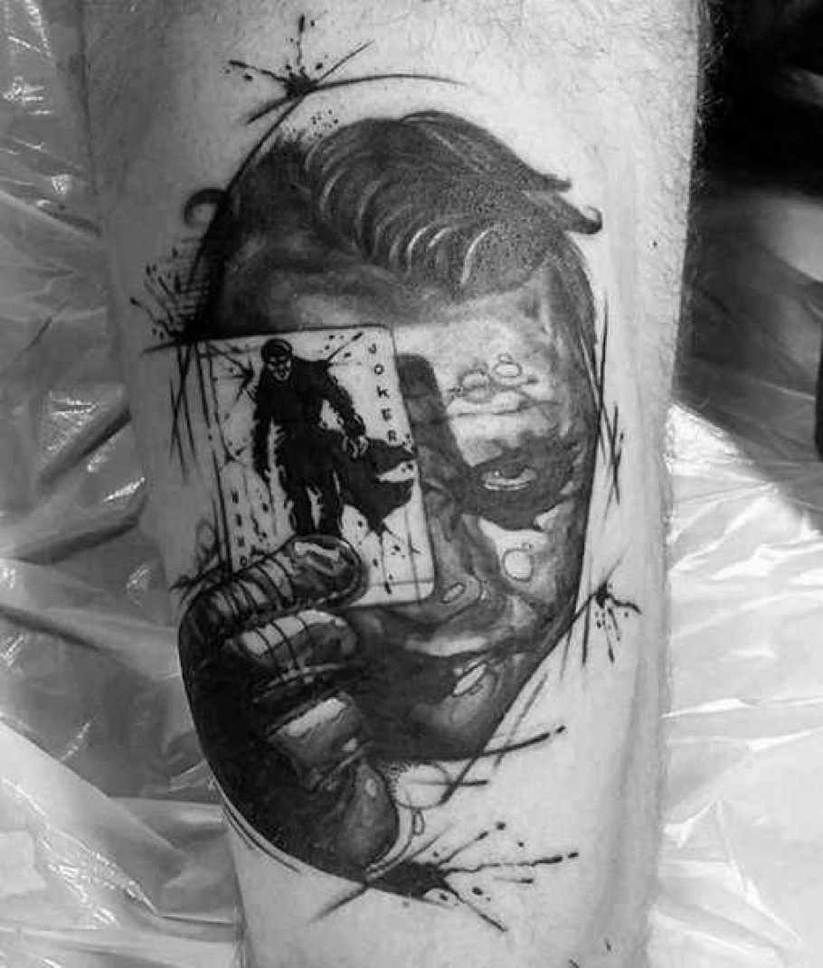Batman & The Joker Arm Tattoo