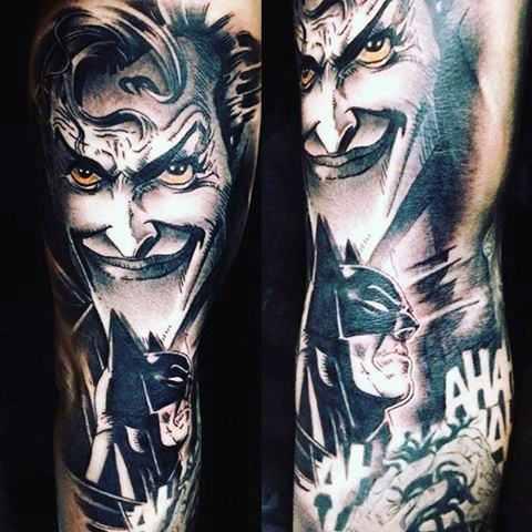 Batman & Joker Arm Tattoo