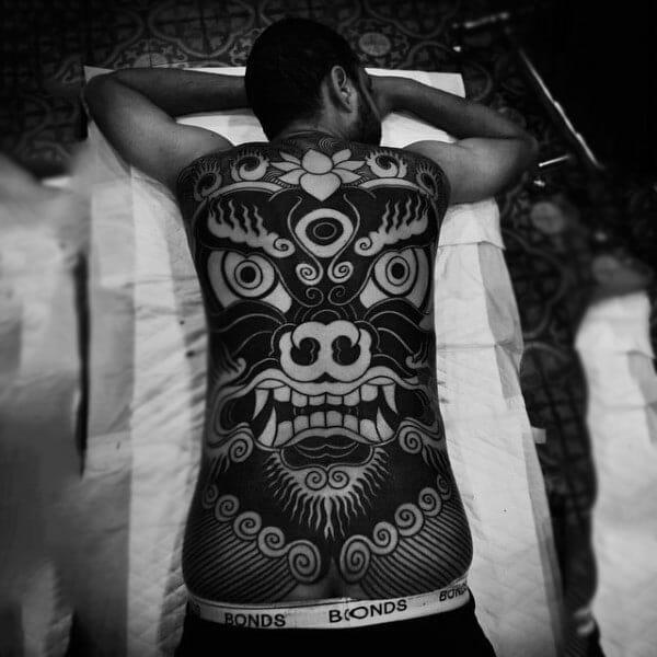 Tribal Face Tattoo