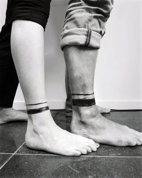 Couples Ankle Tattoo