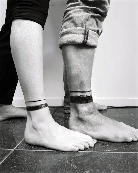 Couples Ankle Band Tattoo