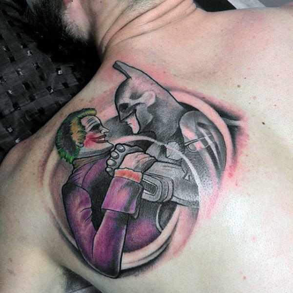 Batman & Joker Shoulder Tattoo