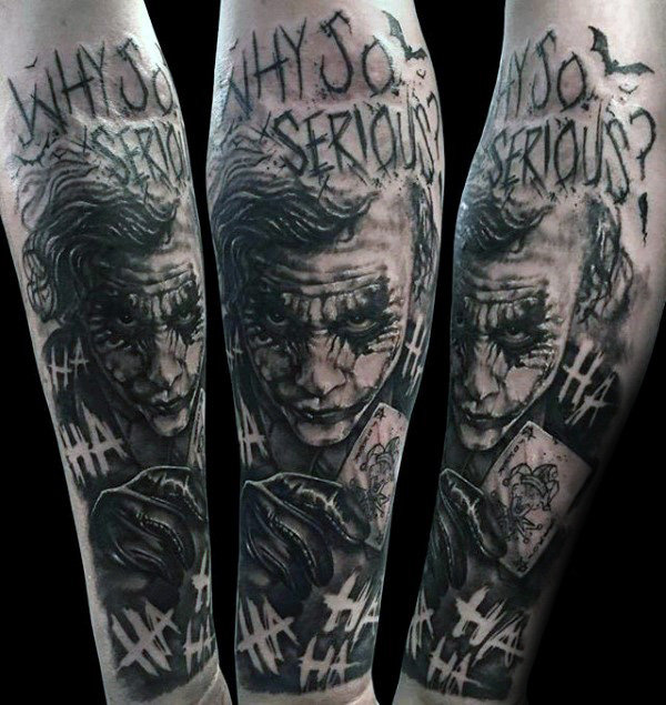 bc472b607 101 Joker tattoo designs for men - (incl, legs, backs, sleeves, etc ...