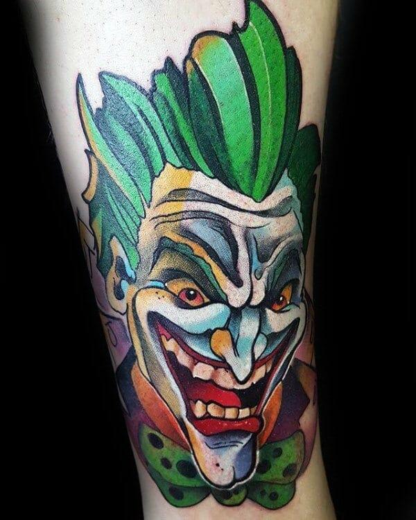 Creative The Joker Inner Arm Tattoo