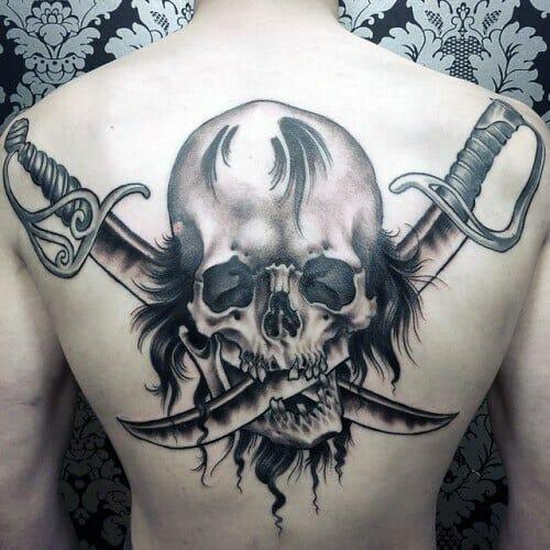 Creative Skull with Swords