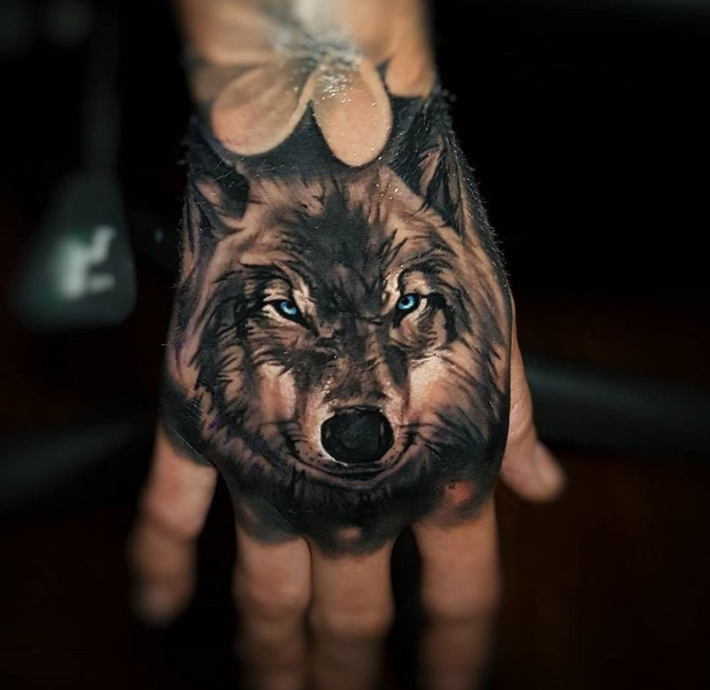 Wolf & Petal Tattoo