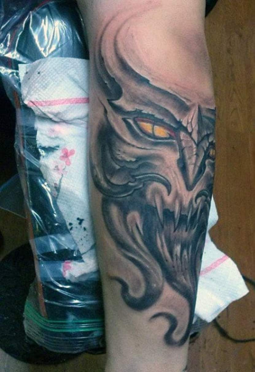 Demon Head Tattoos