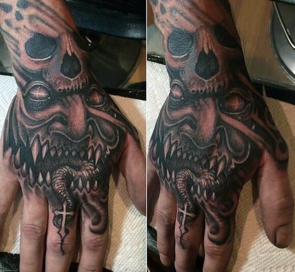 55749647d Demon, Devil, Evil and Satanic tattoo designs for men - Outsons