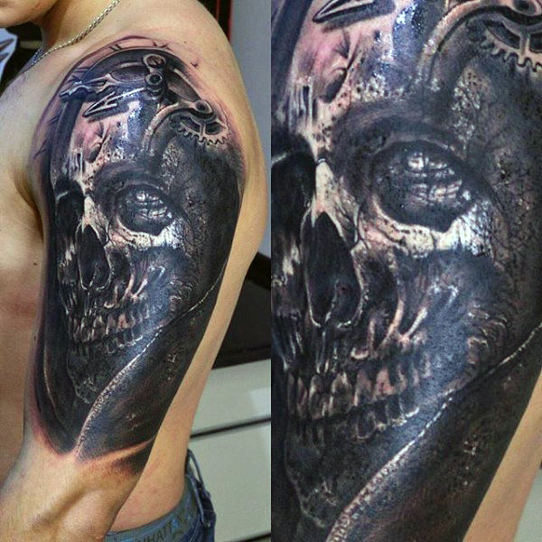 Demonic Skull Tattoo