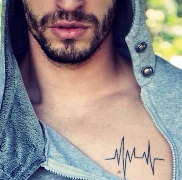 heart line tattoo