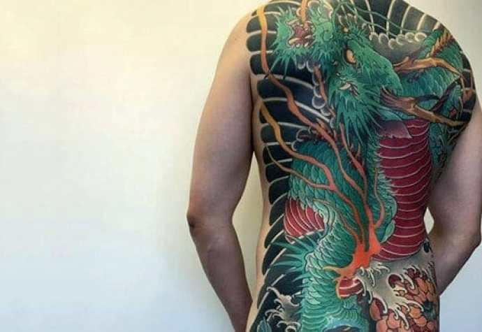 Green Chinese Dragon Tattoo