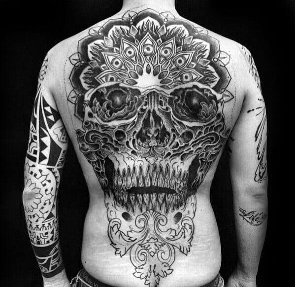 Mandala Style Skull Tattoo