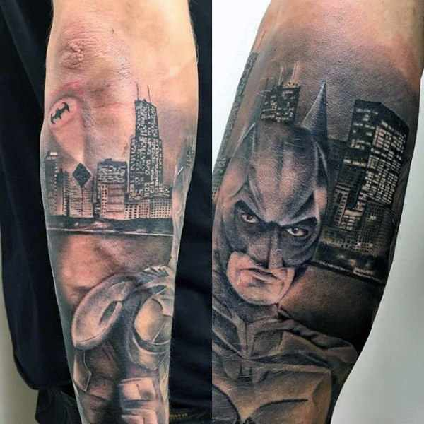 Batman Arn Tattoo