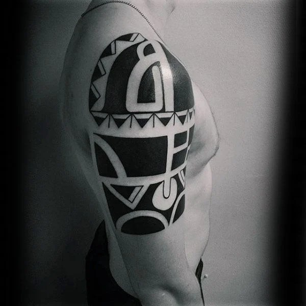 Cool Tribal Arm Tattoo