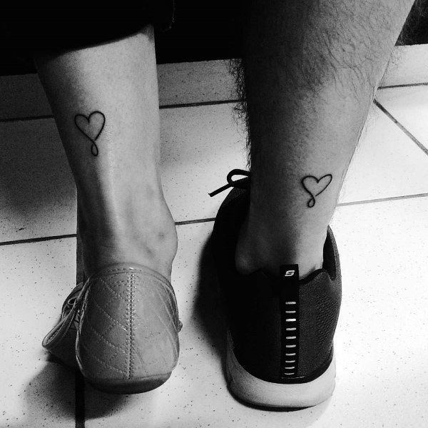Couples Heart Tattoos