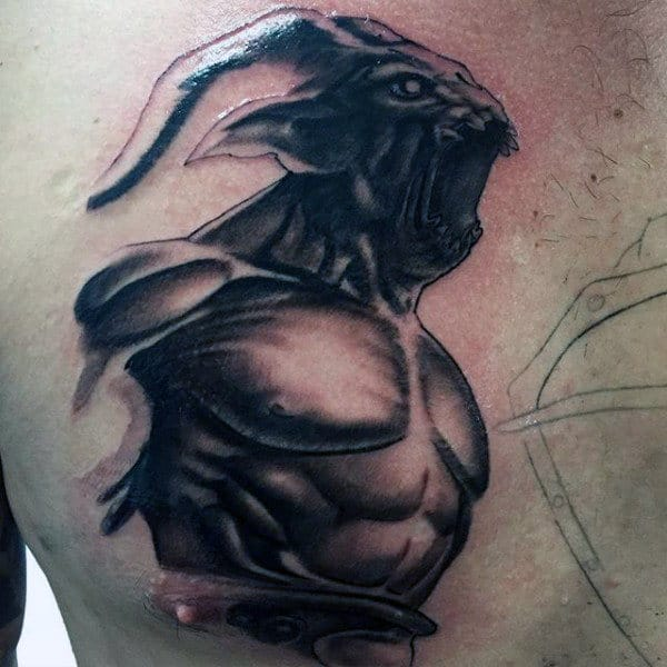 Mens Demon Tattoo
