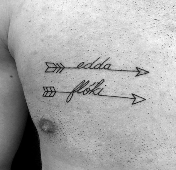 Name with Arrows Tattoo