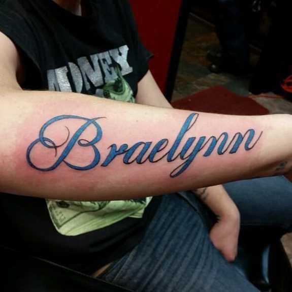 Large Names Kids Name Tattoo