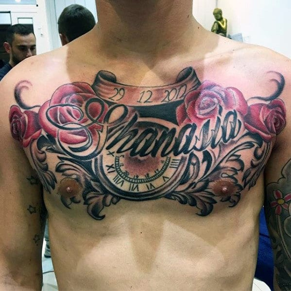 Chest Tattoos With Names For Women