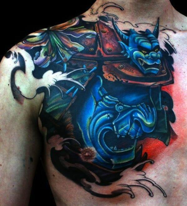 Blue Samurai Mask