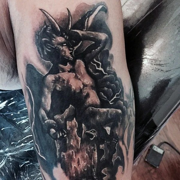 Screaming Demon Tattoo