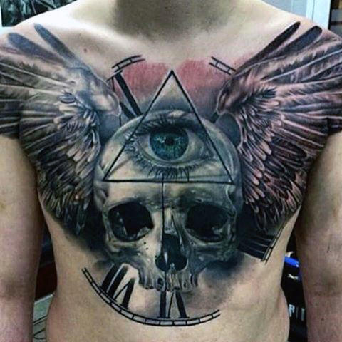 Skull & All Seeing Eye