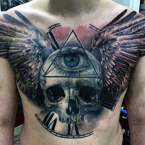 Skull & All Seeing Eye