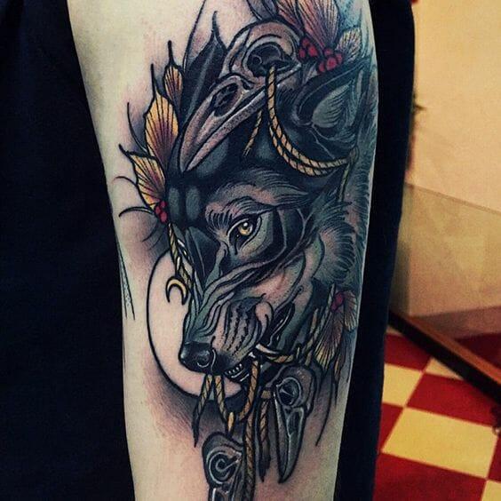Thoughtful Leg Tattoo
