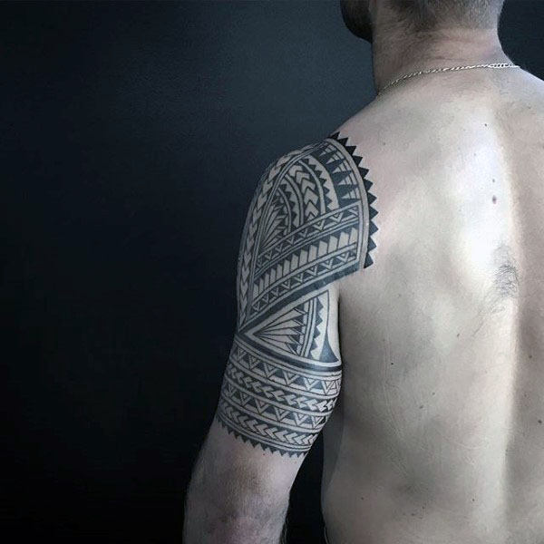 Polynesian Arm Tribal Tattoo