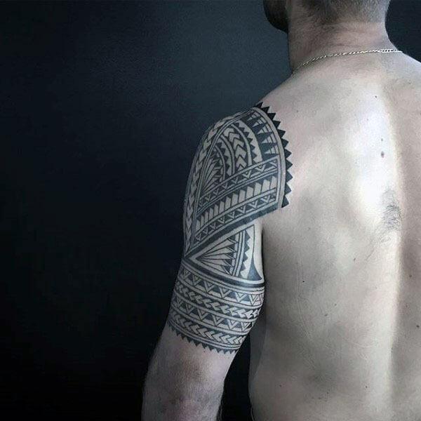 Polynesian Arm Tribal Tattoo