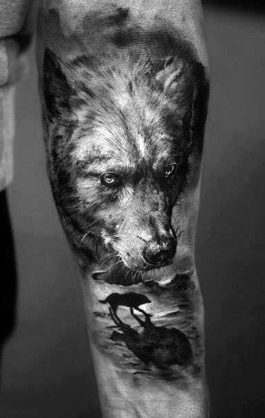 Wolf Tattoo Design For Men