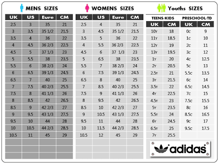 adidas NMD size guide